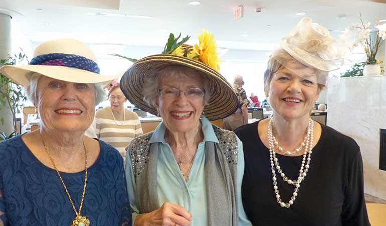 Westerleigh PARC Downton Abbey Tea - Sales Manager Gail with residents
