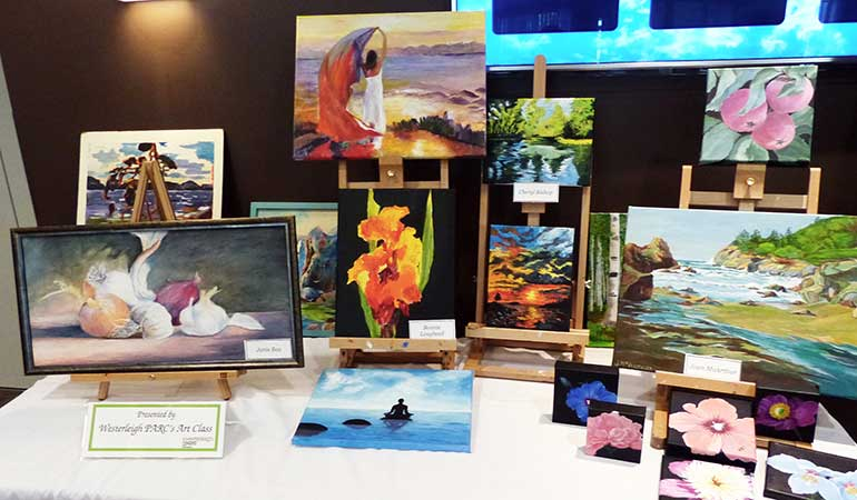 Display of paintings by Westerleigh PARC residents