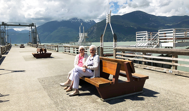 Westerleigh PARC resident Bette at Porteau Cove