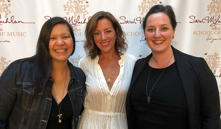 PARC representatives and Sarah McLachlan