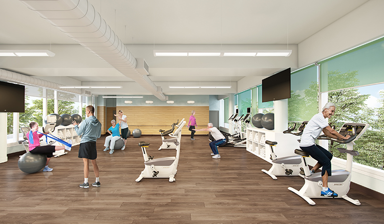 Oceana PARC - PARC Active Seniors Fitness Centre Rendering