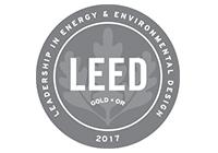 LEED Gold 2017 certified logo