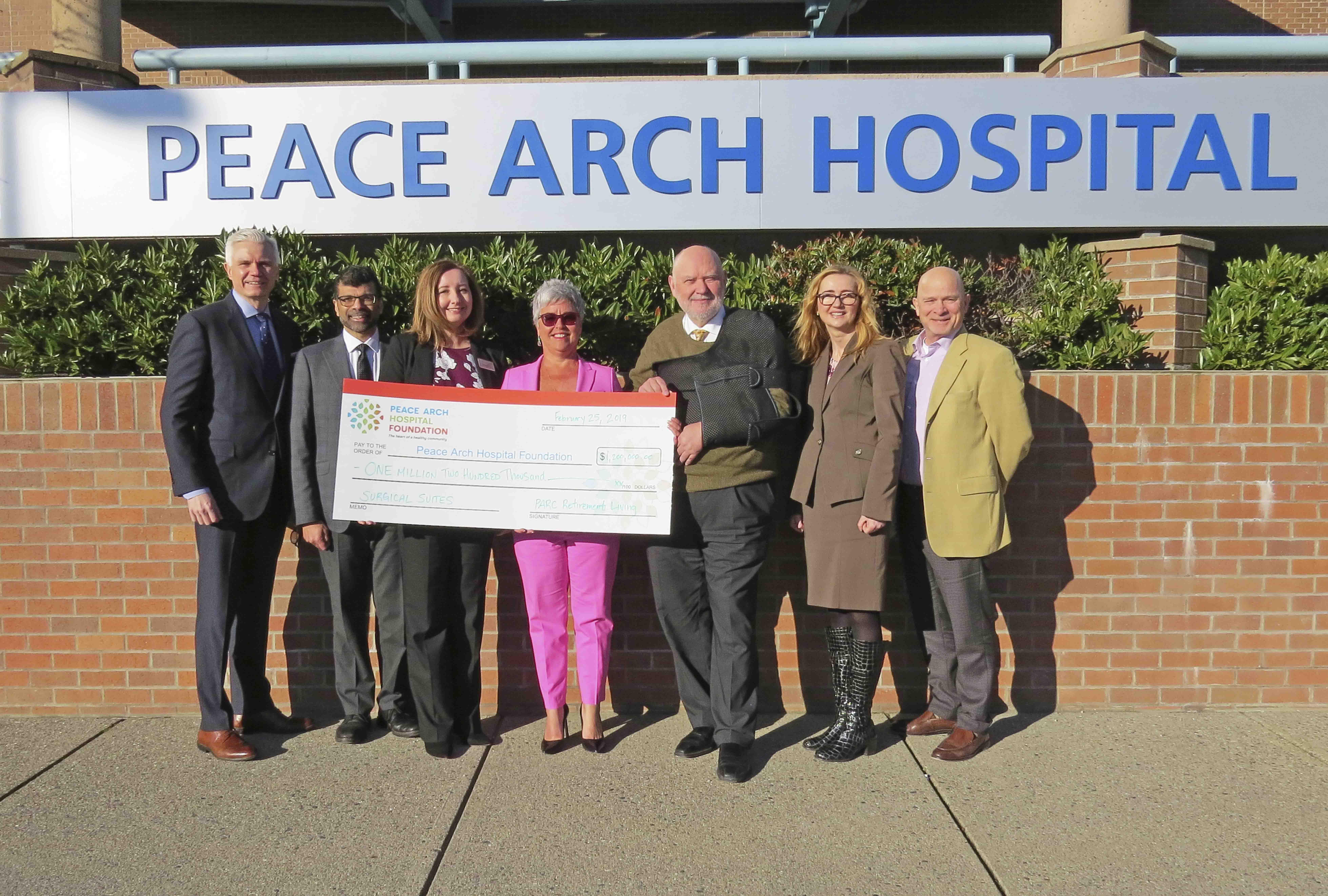 PARC representatives and Peace Arch Hospital Foundation