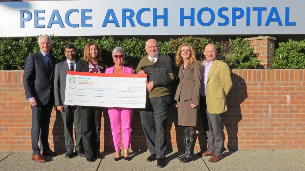 Peace Arch Hospital $1.2 million donation