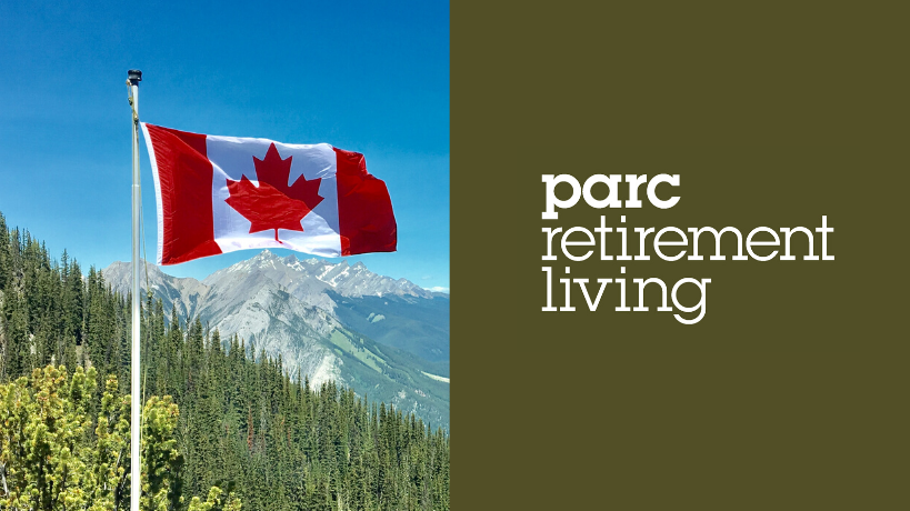 Canada flag and PARC Retirement Living