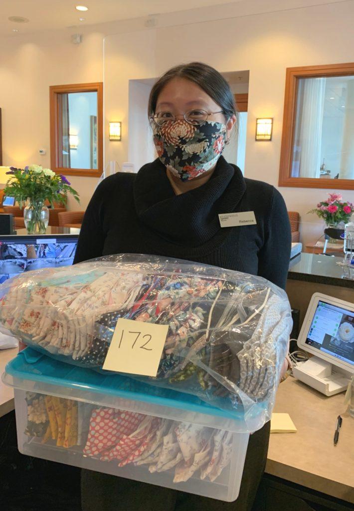 Summerhill PARC Receptionist Rebecca Masks