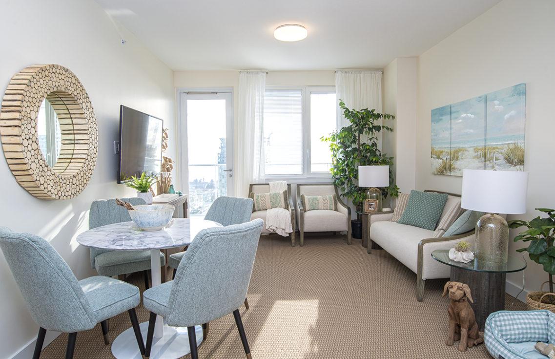 Oceana PARC one bedroom suite living room