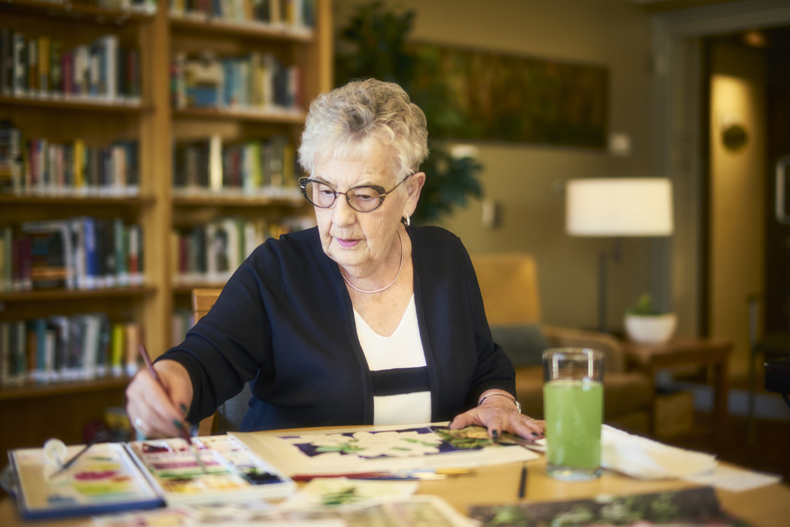 Cedar Springs PARC resident Cathy watercolour painting