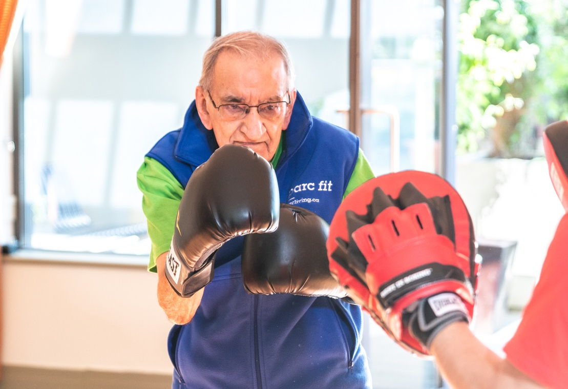 Mulberry PARC resident Madatali boxing