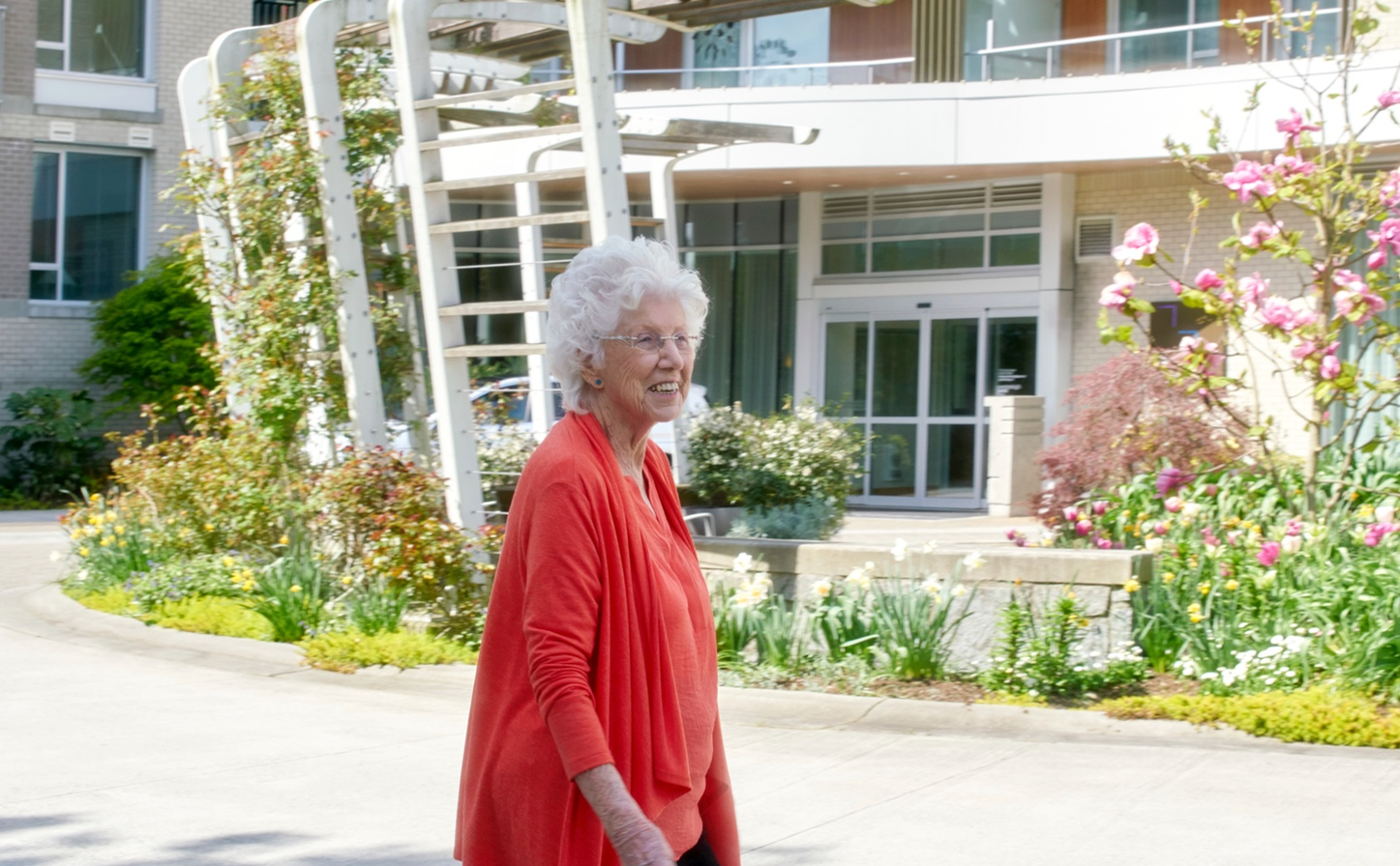Westerleigh PARC resident Dorothy going for a walk