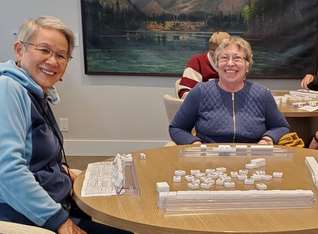 Oceana PARC residents playing board games
