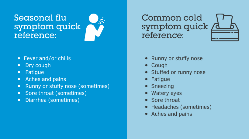 Seasonal flu vs common cold