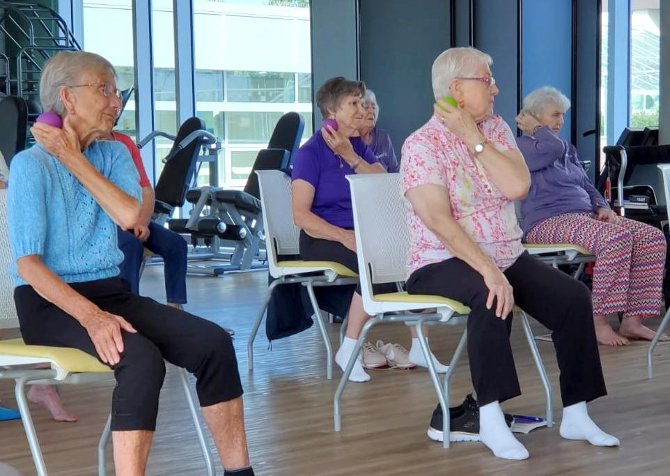 Residents learning myofascial release