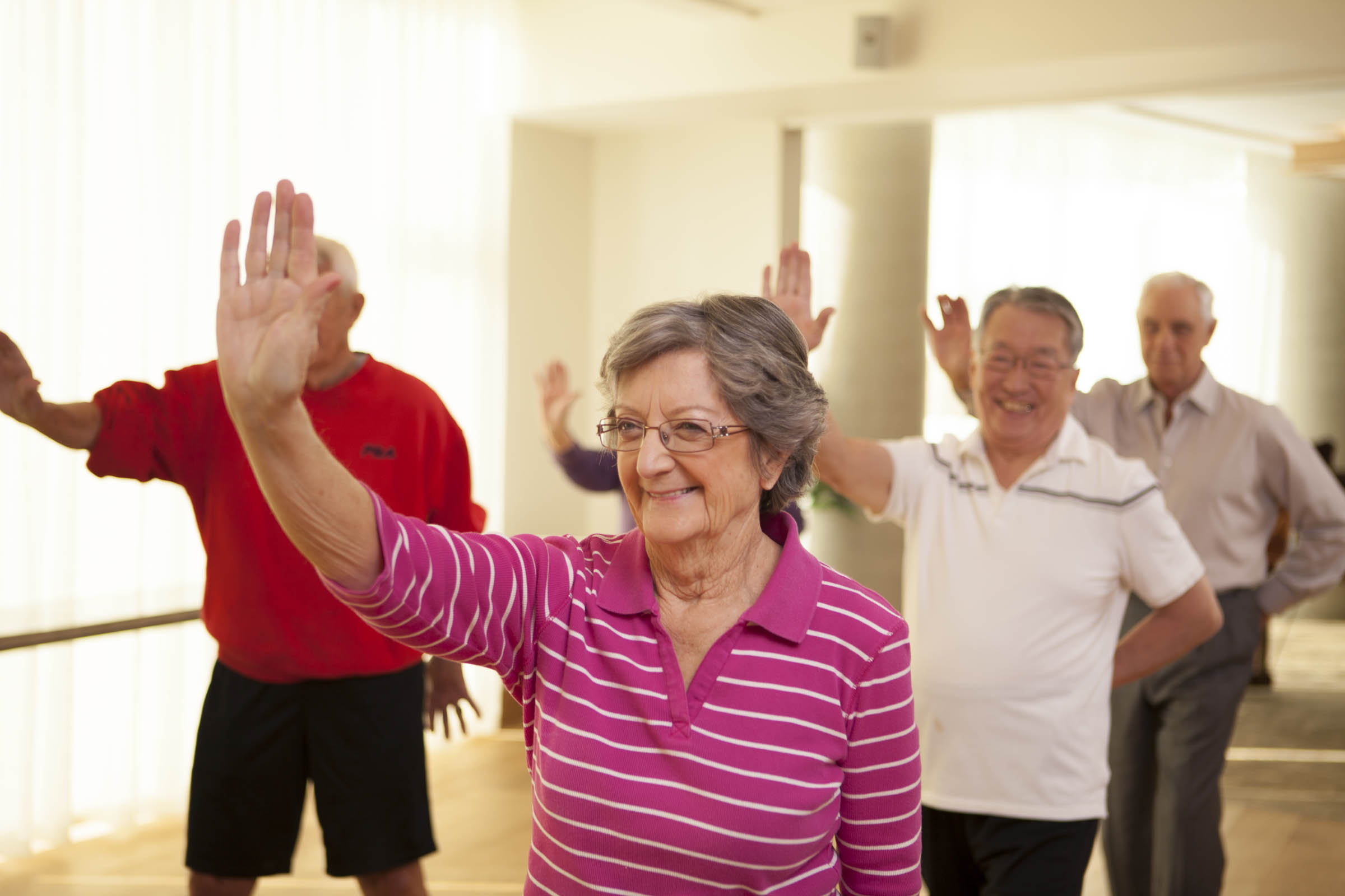 Residents doing Tai Chi