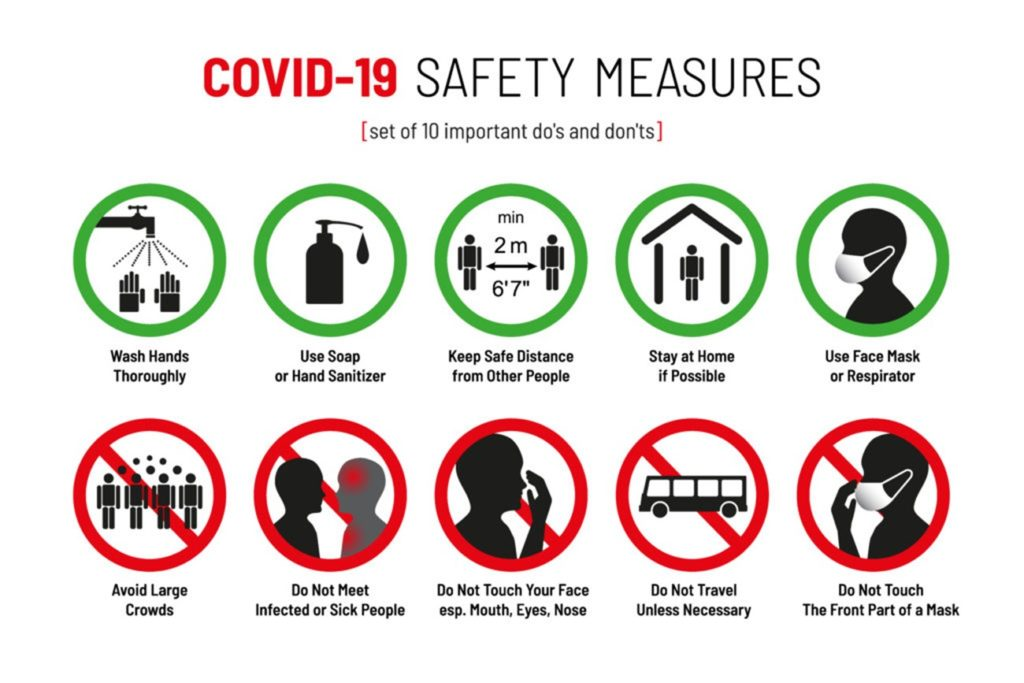 Covid-19 safety measures graphic