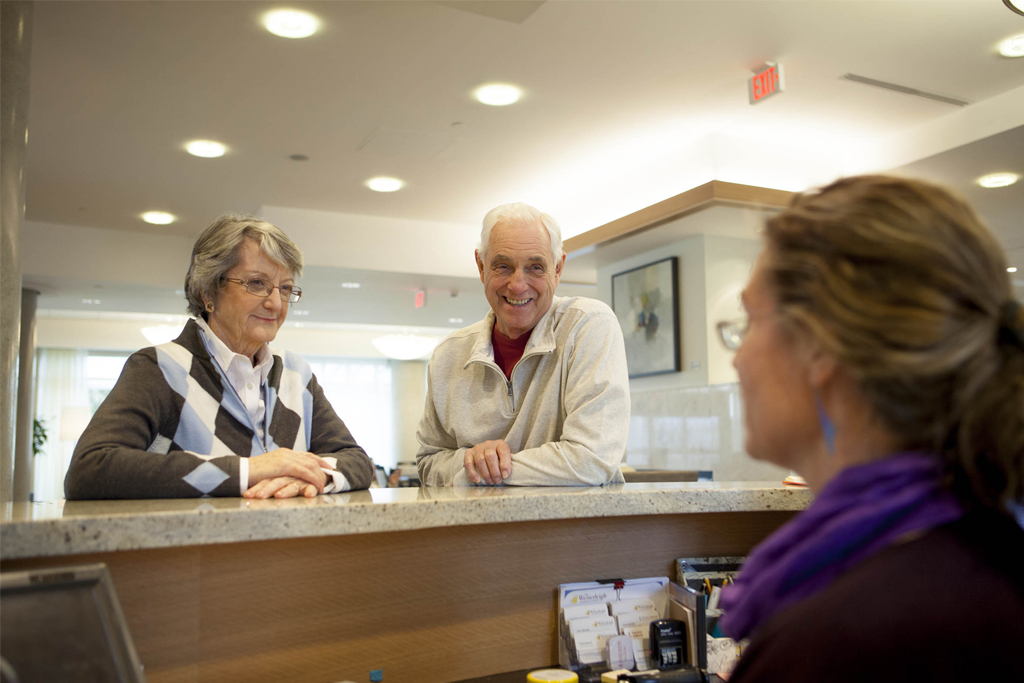 PARC Residents Asking for Help at Reception desk