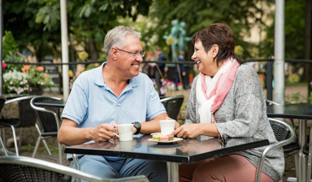 PARC Seniors Enjoying Coffee